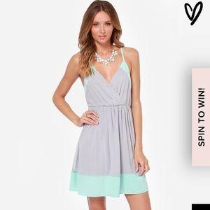 Lulu's Grey and Mint Dress
